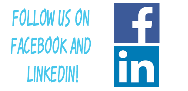 Follow us on Facebook and LinkenIn